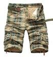 Verão 2016 Shorts Da Carga Dos Homens Estrangeiros Homens Praia Shorts Soltos, Roupas casuais Camuflagem Curto Tamanho Grande Multi-bolso