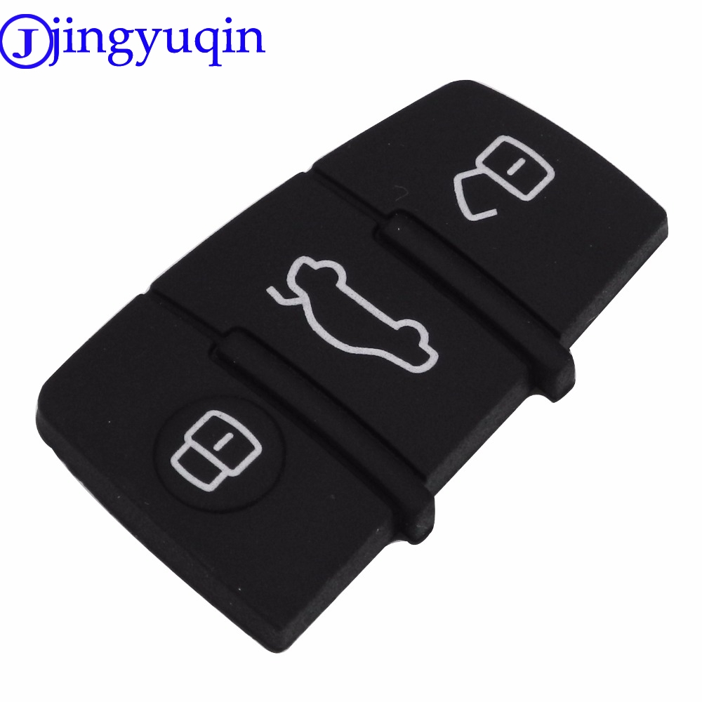 jingyuqin 20ps/lot 3 Button Replacement Pad Rubber Remote Key Fob For Audi A3 A4 A5 A6 A8 Q5 Q7 TT S LINE RS Free Shipping