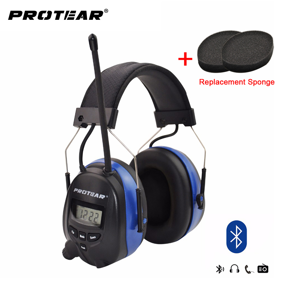 800mAh Chargeable Lithium battery Bluetooth FM/AM Radio Electronic Ear muffs Built-in Microphone Ear Defenders Hearing Protector forest defenders