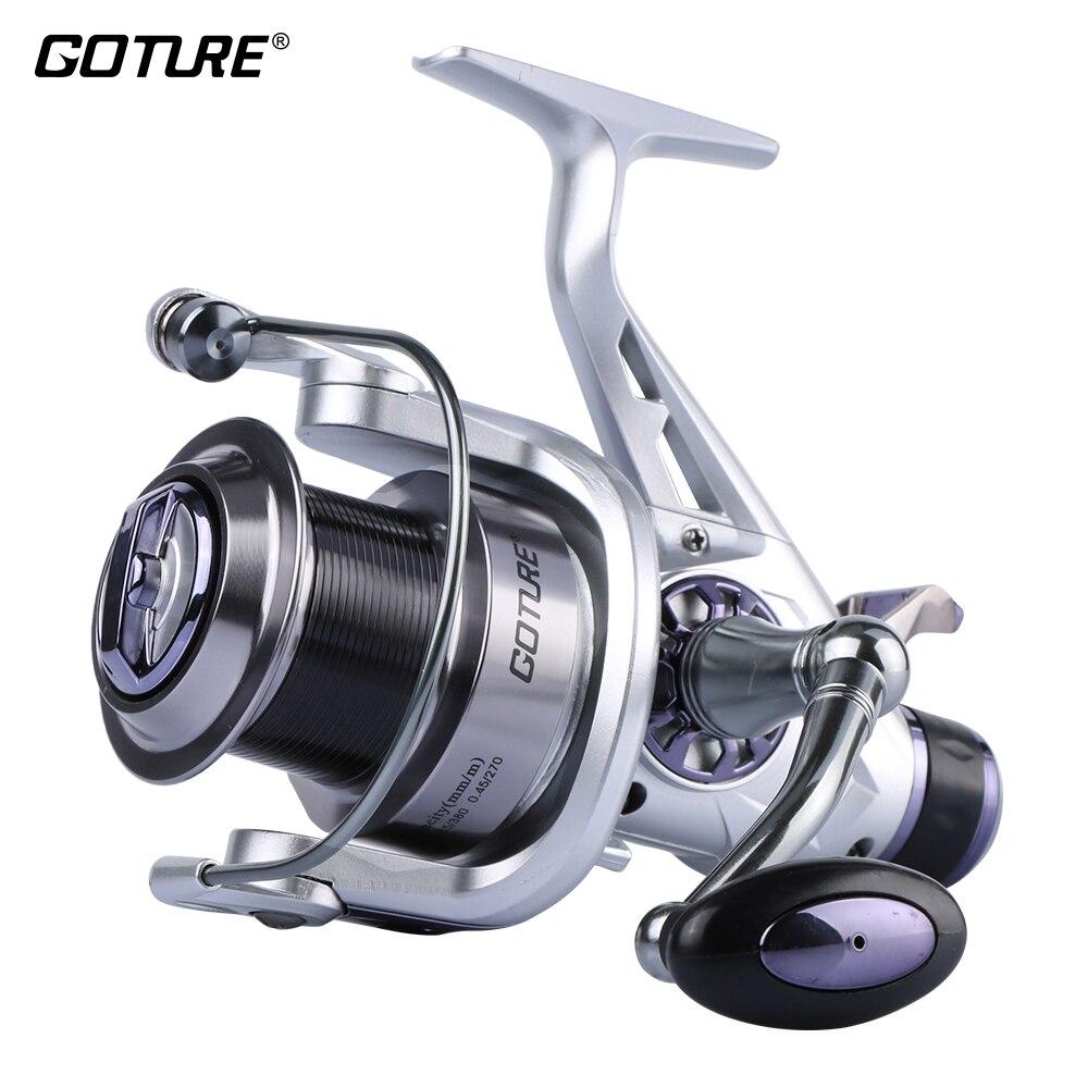 Goture A Doppia Resistenza Spinning Reel Fishing con Metallo Bobina 11BB 5.2: 1 Sinistra Destra Intercambiabile Carpa Ruota 5000/6000 Per Casting