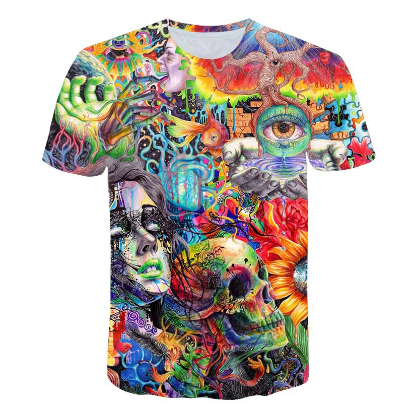Ancient Knowledge T-Shirt Psychedelic 3d Print T Shirt Women Men Fashion Clothing Tops Outfits Tees Summer Style Short Sleeve