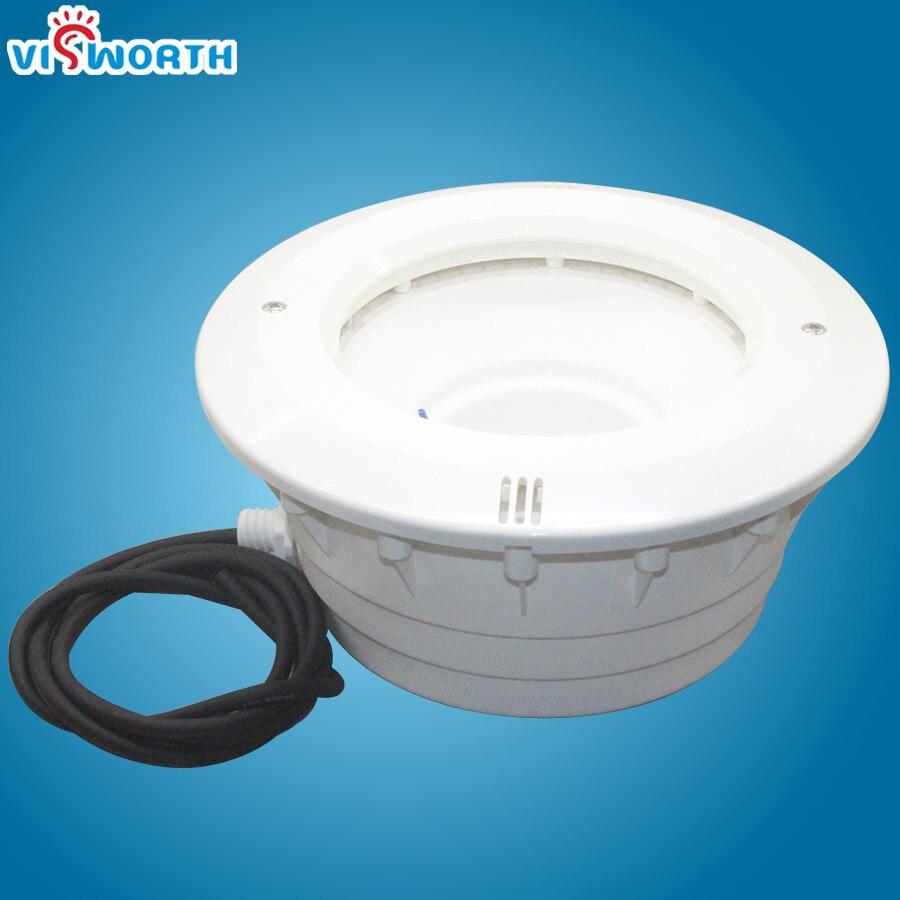 Par56 Logement Led Piscine Lumière De Natation WaterproofPC Matériel Pour Liner Piscine Béton Piscine Lampe de Niche Avec 1.8 Mètre de Fil