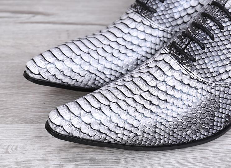 2018 Oxford Und Anzüge Herrenschuhe Retro Vintage Schuhe Frühling Band Spitzen Herbst Neue Leder Schlange RFnfxf