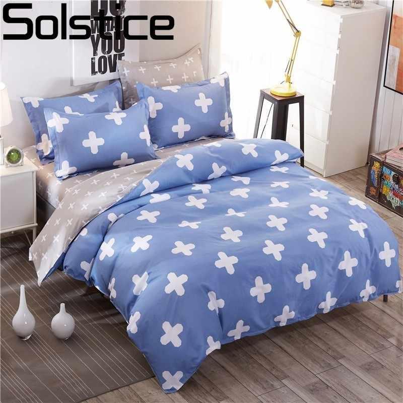 Solstice домашний текстиль краткое Duvet серый полосатый крест решетки Стиль 3/4 шт.