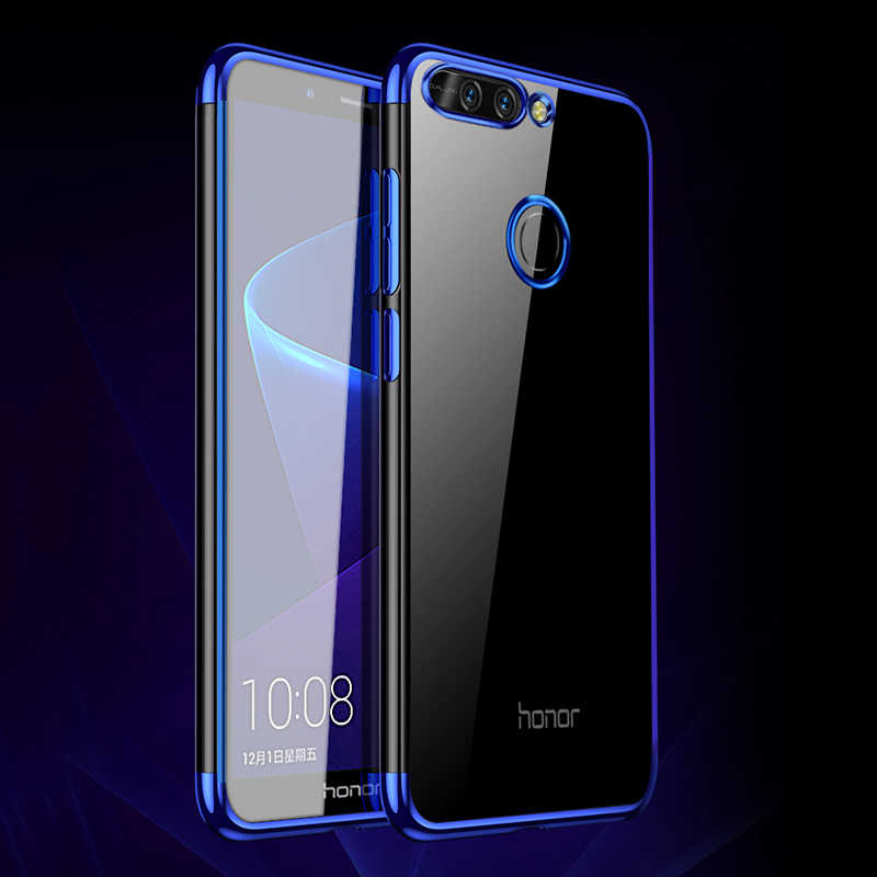 MAKAVO Cover For Huawei Honor 8 Pro Case Luxury Laser Plating Clear Soft Silicone Phone Cases For Honor 8 Pro