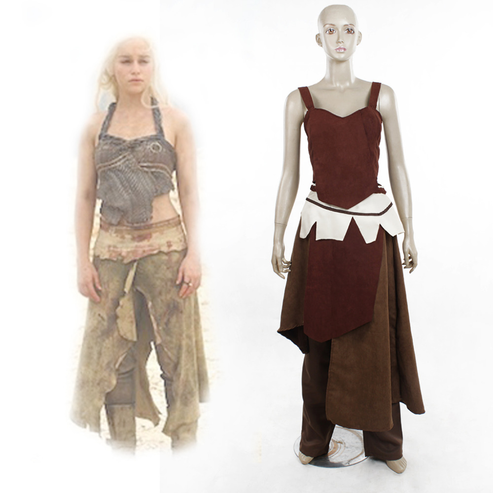 game of thrones cosplay season 1 daenerys targaryen dothraki costume adult women 39 s halloween. Black Bedroom Furniture Sets. Home Design Ideas
