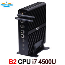 Partaker B2 Barebone HTPC Nuc Fanless Desktop Computer Mini PC Intel Core I7 4500U Max 16G RAM 512G SSD 1TB HDD Windows 10(China (Mainland))