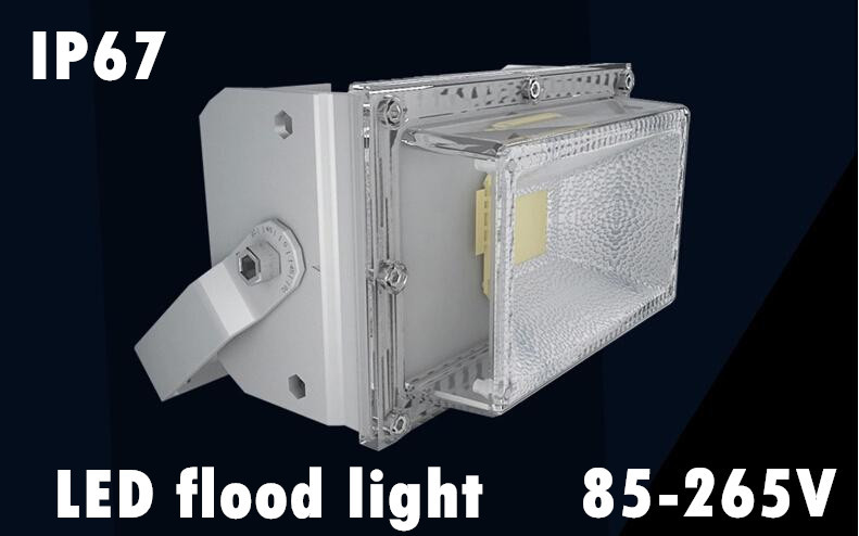 New design ! Waterproof 30W 50W 60W 120W 200W LED Flood Light Warm White/Cool White IP67 Outdoor Lighting free shipping ultrathin led flood light 200w ac85 265v waterproof ip65 floodlight spotlight outdoor lighting free shipping
