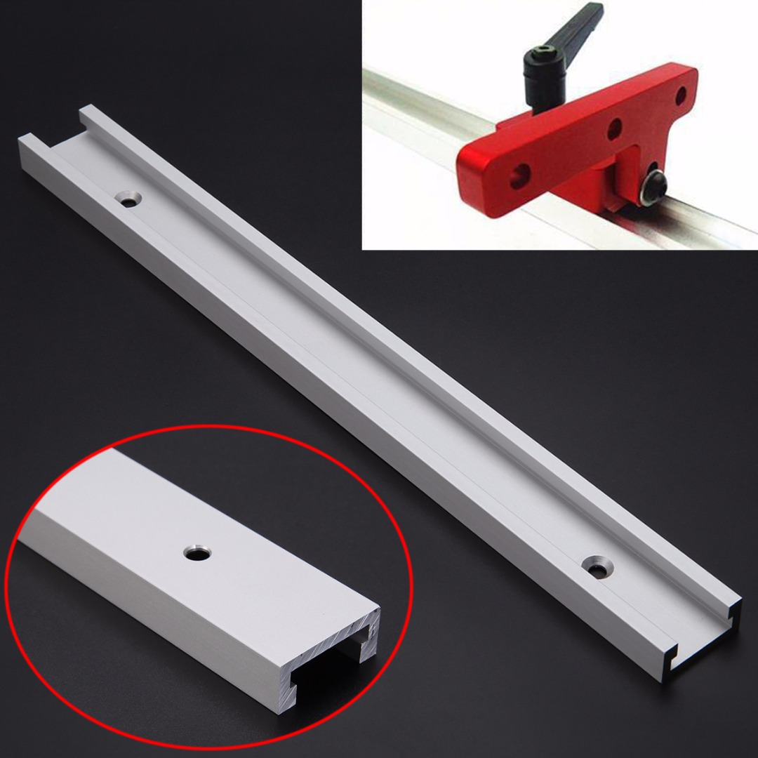 1pc 300mm Silver T-track Aluminum Alloy T-slot Router Table Saw Woodworking Anti-Corrosion Miter Track professional 7005 aluminum alloy tube clap long track ice blade 64hrc high quality dislocation skate shoes knife 1 1mm frame