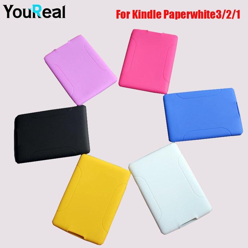 Silicon back cover case for amazon kindle paperwhite3 2 1 e books coque case for fundas kindle - Fundas kindle amazon ...