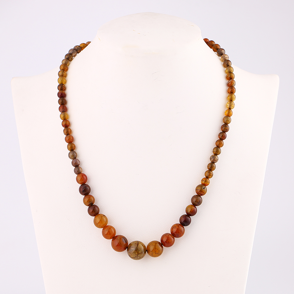 Dragon Agate Power Necklace Natural Stone Crystal Choker Jewelry Pendant Stone Chains Necklace For Women Reiki Fashion Jewelry