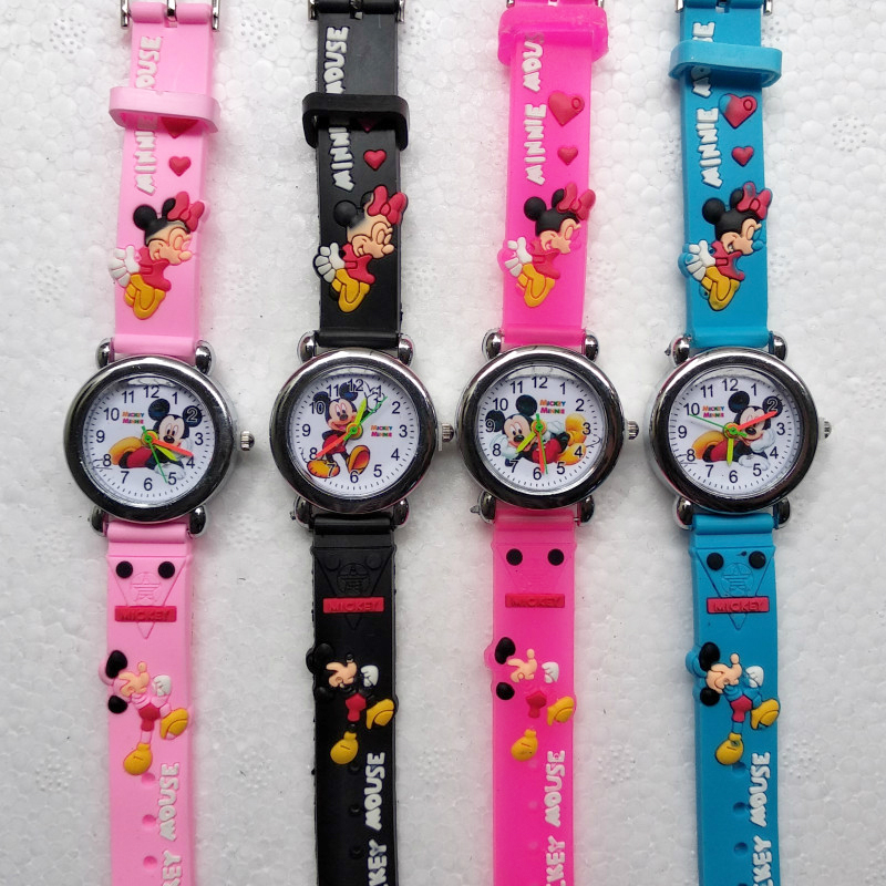 2019 New Children Watch Fashion Top Brand HBiBi Kids Watches Quartz Wristwatches Clock Boys Girls Student Multicolor Watch Plate