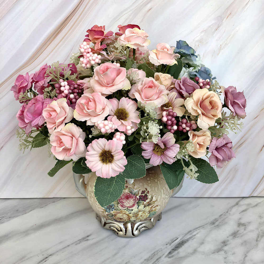 Phenomenal Bouquet Flores Silk Diy Wedding Decoration Roses Artificial Flowers High Quality For Bedroom Decorative Fake Flower 19Jan18 Home Remodeling Inspirations Cosmcuboardxyz