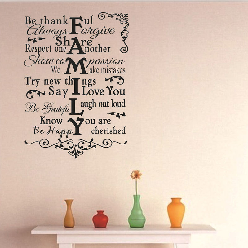 Deep Life Meaning Vinyl Wall Stick Be Thank Explosion Point English Poetry Proverbs Export Stickers For Home Decor