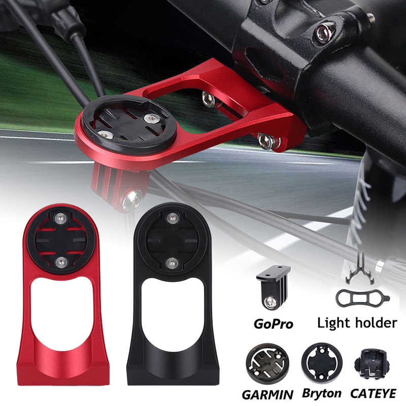 Bike GPS Extension Handlebar Mount Holder Alloy for Garmin Edge Bryton Cateye