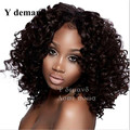 "Kinky Afro Wigs 18"" Long Kinky Curly Black Hair Wig African American Wig For Black Women Cheap Synthetic Hair Realistic Wig"
