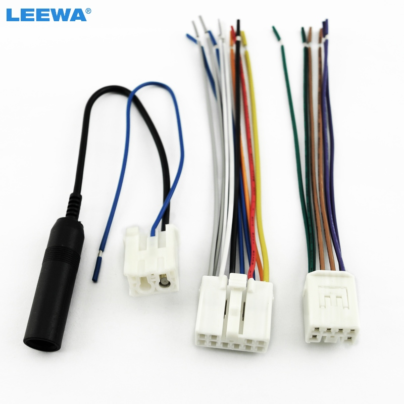 Factory Wiring Harness Adapter : Leewa car audio stereo wiring harness plug with antenna