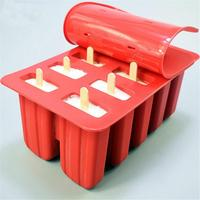10 Cell DIY Silicone Ice Cream Cube with Cover Tray Popsicle Molds Reusable Pop Lolly Frozen Mold Pan Kitchen Tools