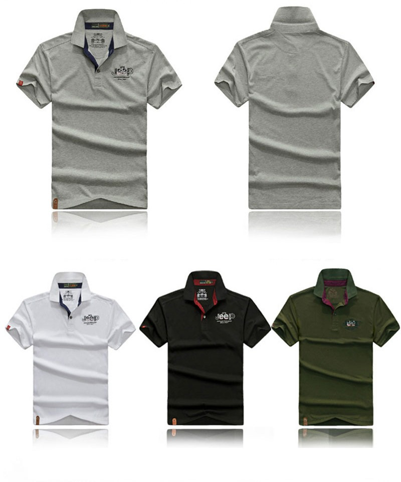 2016 New Summer Polo Casual Fashion Shirt Short Sleeve Tees Men Cotton Tops AFS JEEP Brand Solid Color Shirt Fashion Plus Size (6)