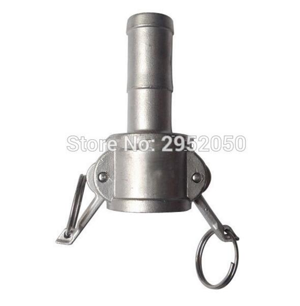 Free shipping 1/2 Type C Coupler Camlock Fitting Stainless Steel SS 304