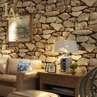 Deep Embossed 3D Brick Wallpaper Modern Brick Pattern Paper Wallpaper Roll For Living Room Wall Covering