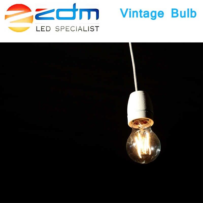 220 V Светодиодный лампа накаливания Эдисона E27 E14 светодиодный свет с солнечней энергией rgb led лампочки 230 В Стекло лампы LampLamp Античный Ретро винтажный
