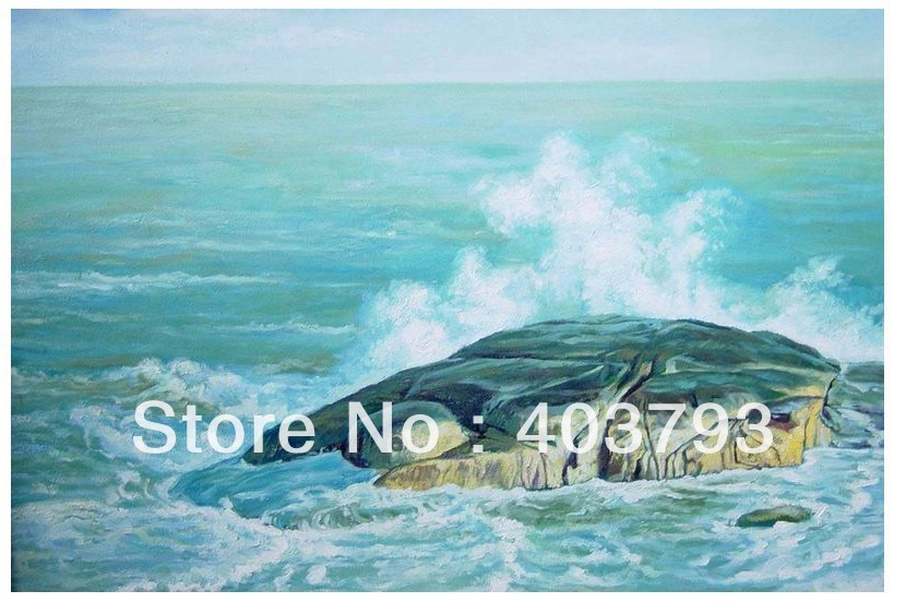 Modern abstract Oil Painting On Canvas huge wall art beautiful sea tortoise wave CH 8 Free shipping in Painting Calligraphy from Home Garden