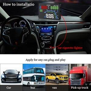 Image 5 - Q7 Auto Auto HUD GPS Head Up Display HD 5,5 Geschwindigkeitsmesser Überdrehzahl Multi Farbe Warnung Dashboard Windschutzscheibe Projektor