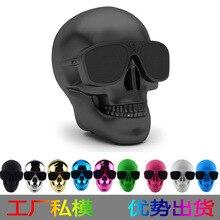 Metálica de plástico Cabeza Del Cráneo Cráneo Sunglass NFC Altavoz Bluetooth Inalámbrico Portátil Altavoz Móvil Altavoz Subwoofer de Usos Múltiples