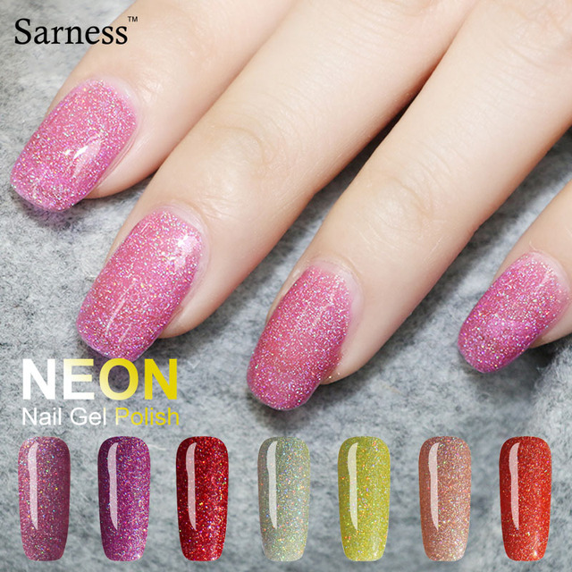 Sarness Hot Shiny Color Uv Gel Nail Polish 8ml Neon Lacquer Lucky Colorful