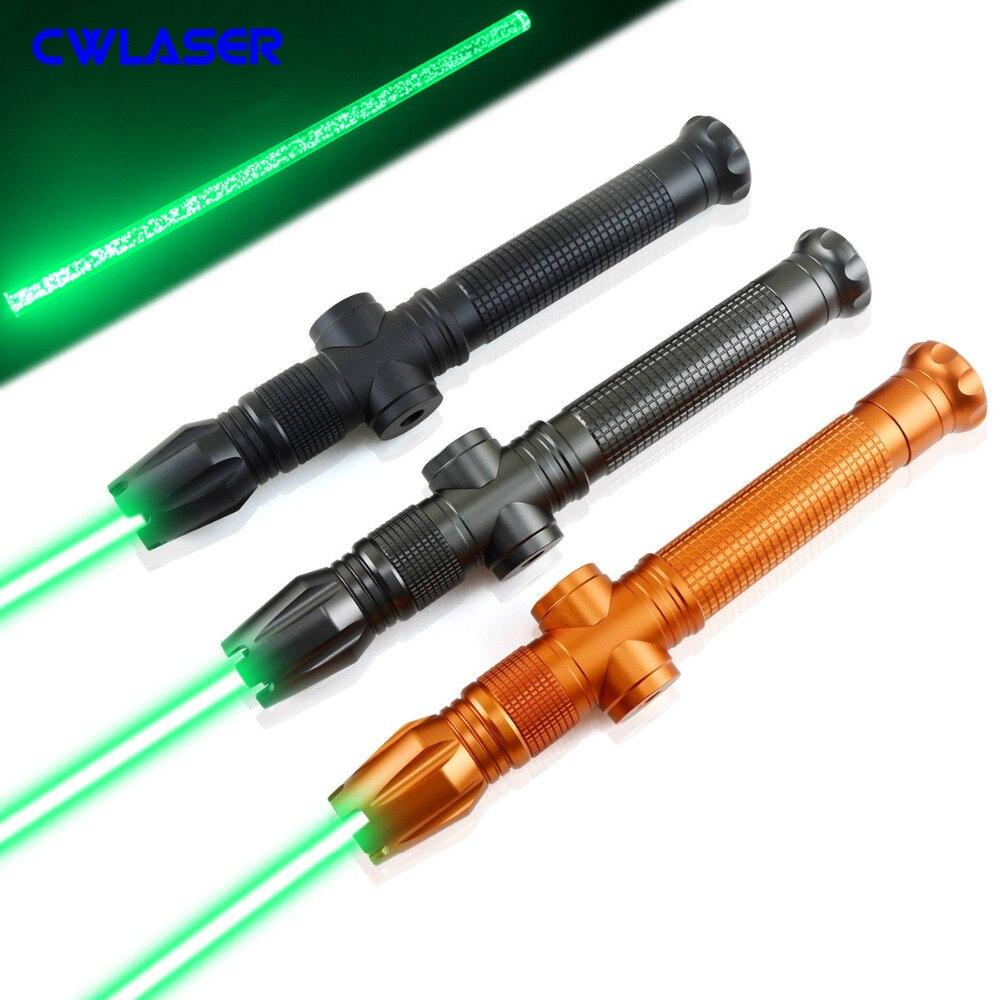 Nouveauté pointeur Laser vert Portable focalisable haute puissance 520nm avec épée Laser acrylique (3 couleurs)