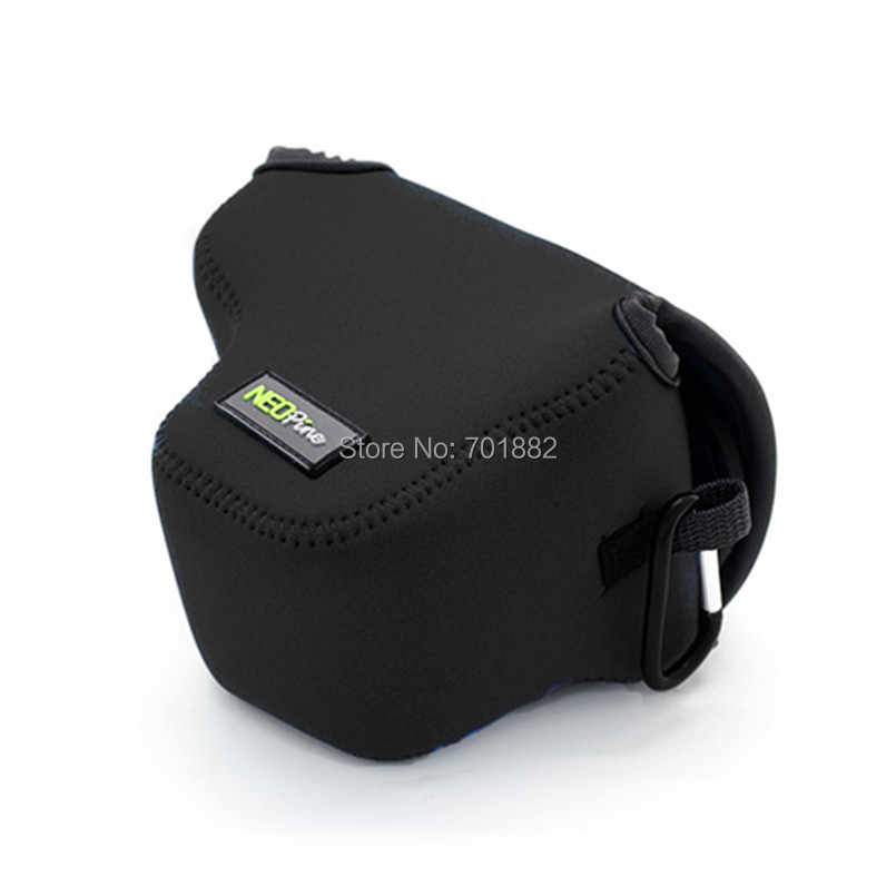 Неопин неопрен Камера сумки мягкий чехол для цифровой однообъективной зеркальной камеры Canon EOS M5 M50 с составляет 15-45 рабочих дней мм УФ-фильтр для объектива Портативный мешок Ultra Light