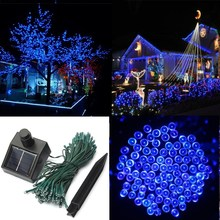 Hot Sale 100 LED 17M Solar Power Waterproof IP44 Outdoor Garden Christmas Party Decoration String Fairy