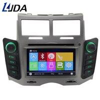 LJDA 2 Din dvd плеер автомобиля для Toyota Yaris 2005 2011 Bluetooth Радио gps навигации Bluetooth аудио FM RDS мультимедиа головного устройства
