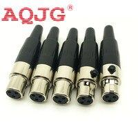 wholesale 50 pcs/lot 4 pin Female Mini XLR Audio Microphone connector TA4F