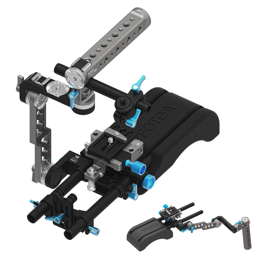 FOTGA DP500 Mark III ENG Handle Cage + Shoulder Pad + Baseplate 15mm Support Rig
