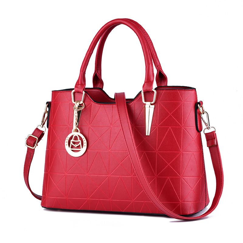 New High Quality Red PU Women Handbag Casual Fashion Office Lady Shoulder Bag Crossboday Zipper wine red pu women handbag casual office lady tote shoulder bag crossboday toggle zipper