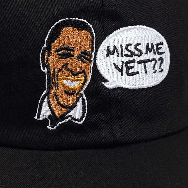 Former US President Barack Obama dad hat MISS ME YET embroidery baseball cap  for man and women Funny face snapback caps-in Baseball Caps from Apparel ... 4e32f645ee4d
