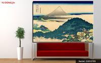 A costa de sete leages em Kamakura Still life Pintura A óleo Clássica Desenho arte Spray Unframed Canvas airbrush21015705