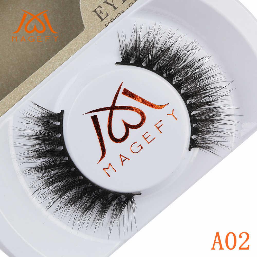 b1d85801a46 1 Pair Natural Mink Eyelashes 100% Cruelty Free Handmade 3D Mink Lashes  Full Strip Lashes