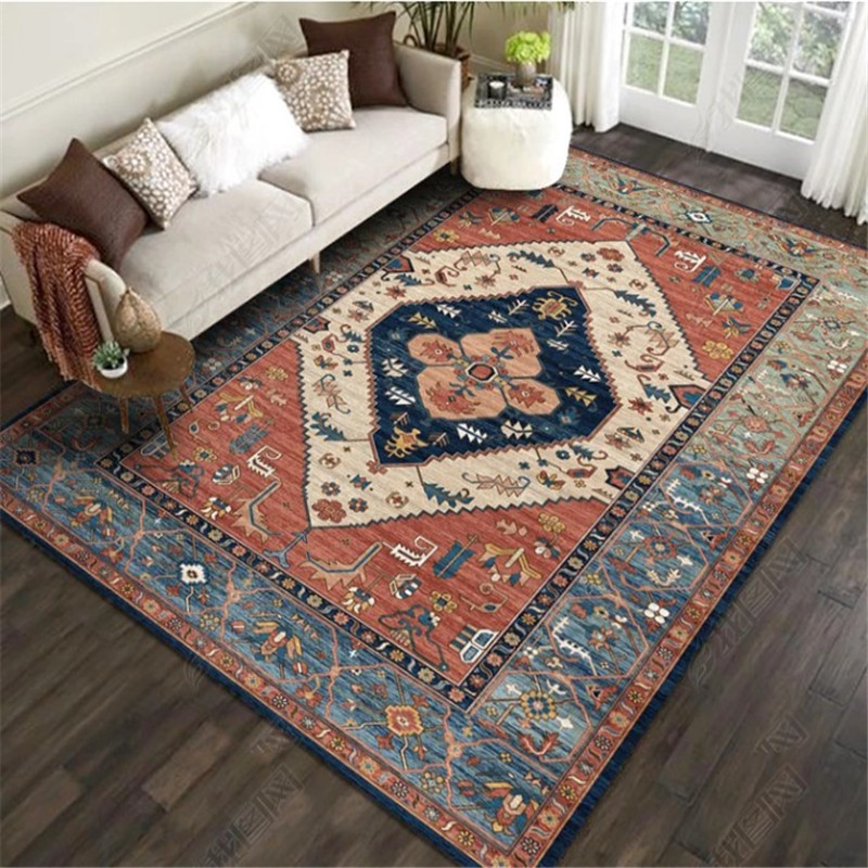 Morocco Style Large Rugs For Living Room with Vintage Ethnic Styles