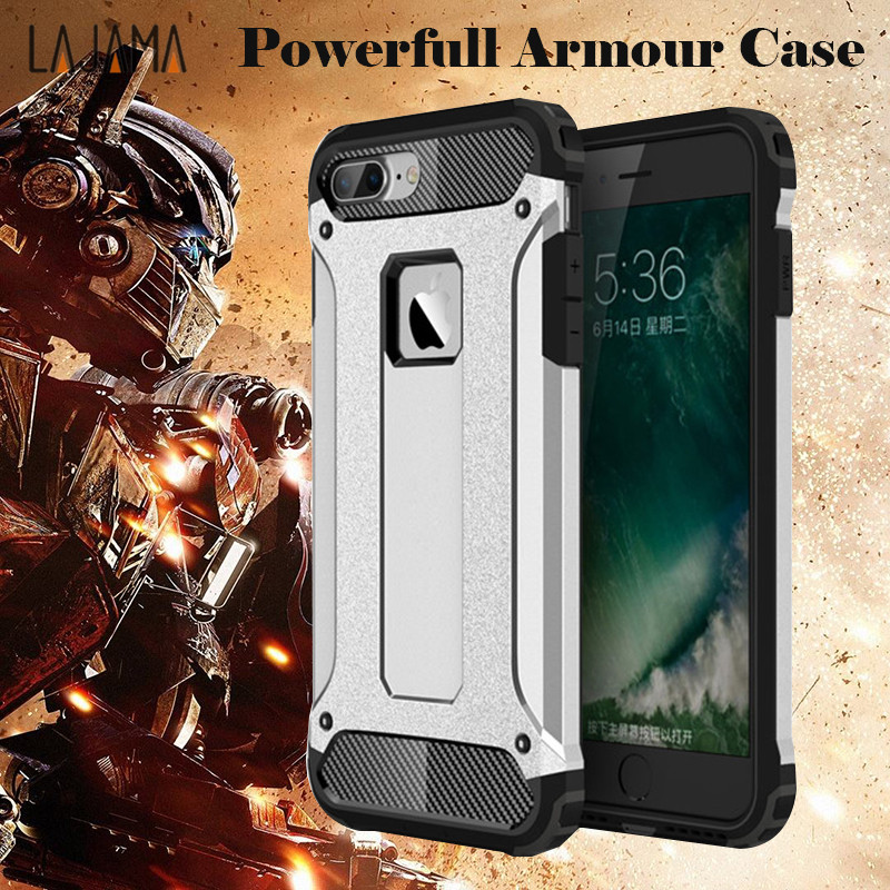 360 degree Strong Protection Armour Phone cases for iPhone 6 6s Plus case AntiKnock Mobile Phone cover for iPhone 7 8 plus X