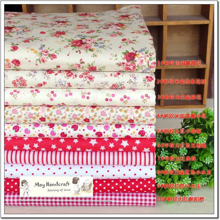 Aliexpress.com : Buy 100% Cotton Fabric,10Pcs/Lot Red ...
