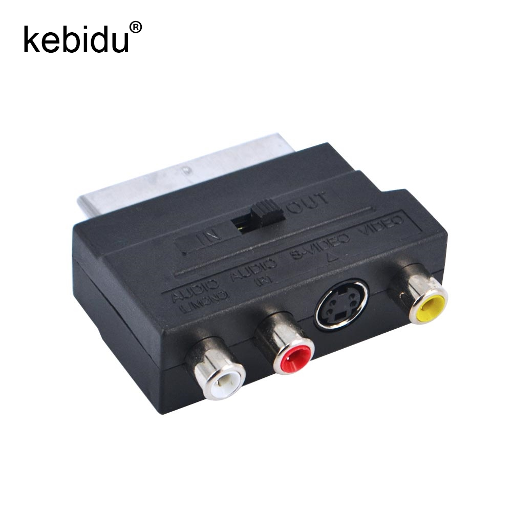 Kebidu RGB Scart to 3 RCA S Video Adapter Composite RCA SVHS S Video ...