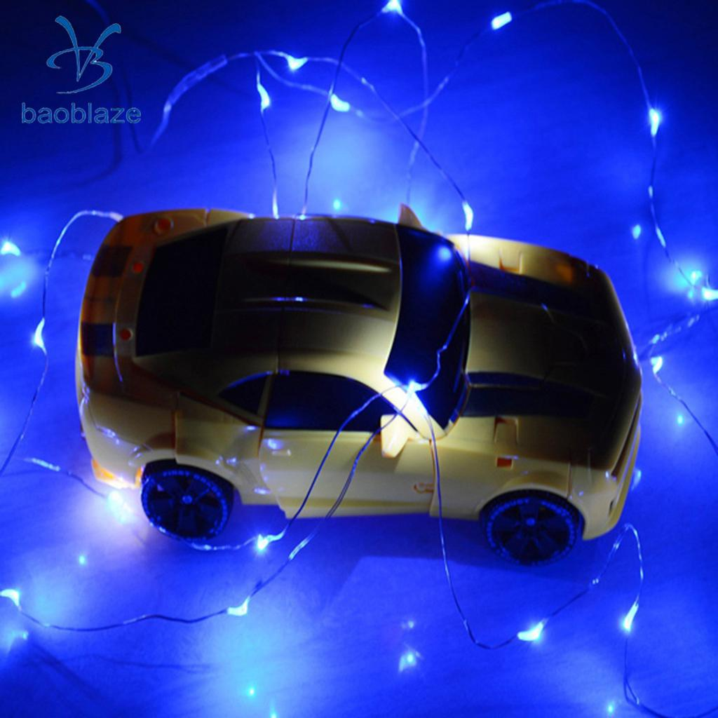 Baoblaze 20 LED Battery Powered Light Chain Fairy String Light Party Decor Apply For Hotels Buildings Sisplay Windows Supplies
