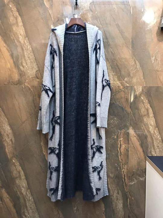 Assorti Cravate Femmes Brodé Automne Gris Chapeau Hiver 2018 Jacket1103 Long De FwqYTIFP