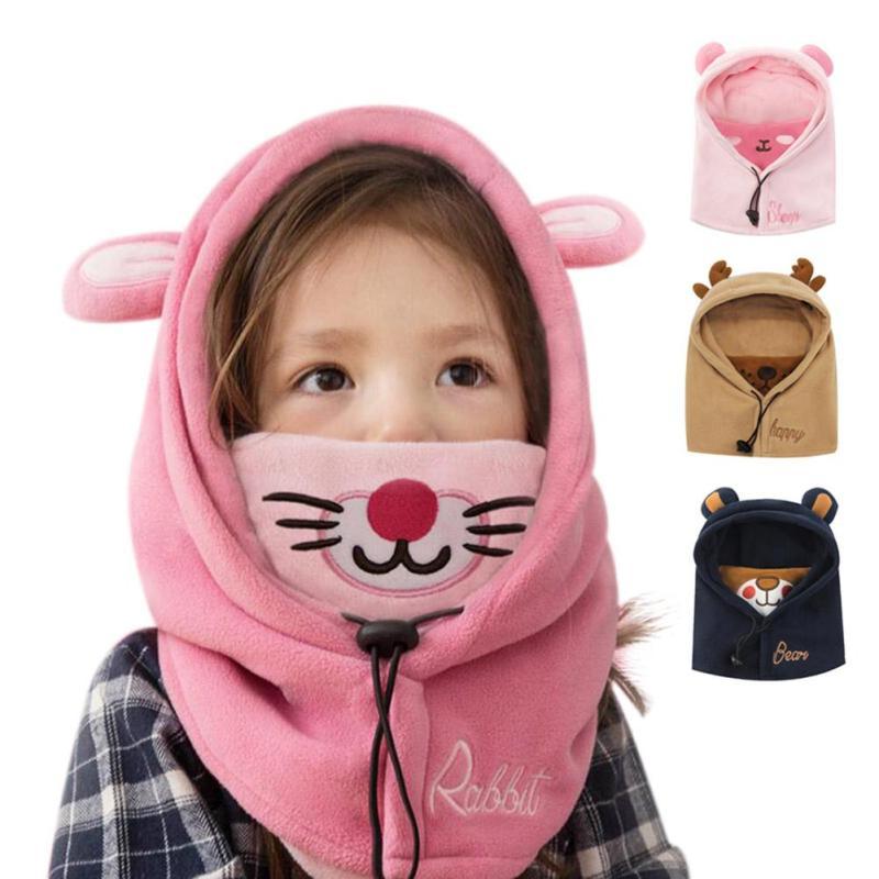 Winter baby chidren hat War Character Hooded hat Cap for kids age 1-12 Toddler Boys Girls Masked Hood Cap Beanies Gift R4