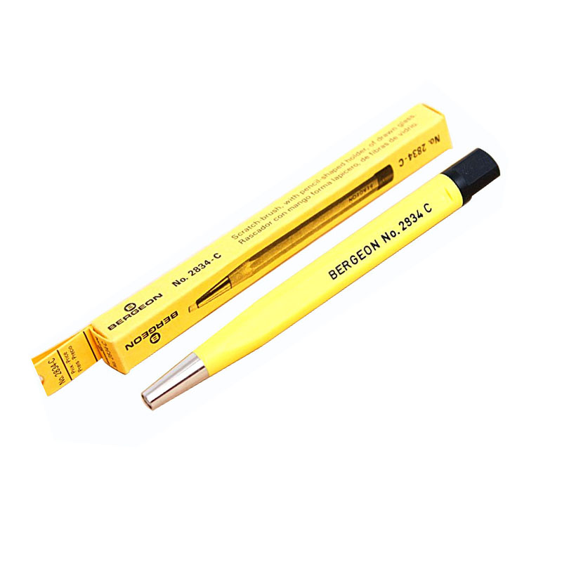 No.2834-C Watch Surface Dust Clean Brush, Fiber Glass Scratch Brush Pen For Watch Dust Remover Tool ...