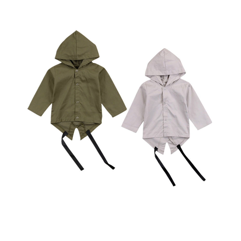 2017 Heißer Neugeborenen Jungen Herbst Frühling Kleidung Jungen Kinder Lange Ärmel Mit Kapuze Jacke Hass Hoodies Mantel Outwear