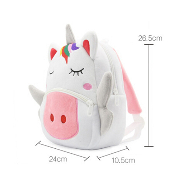 3D Cartoon Unicorn Backpack Kindergarten Schoolbag